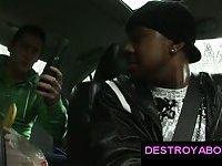 White gay guy sucking big black gay cock