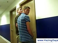 Gay freshmen get hazed