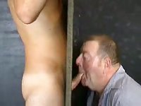 Sean gets dick sucked by mature through the gloryhole