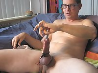 Horny Guy Toying His Dick
