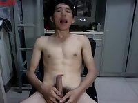 Asian Teen Beating Off
