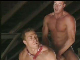 Hot Cowboys Fuck On Hay