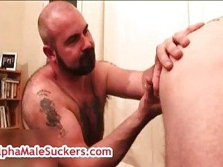 Mature gay gets perfect blowjob