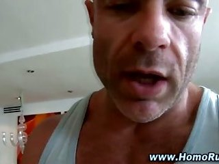 Curious straight guy gets massage