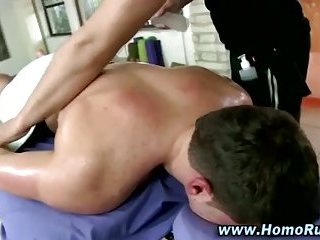 Straight gets a massage