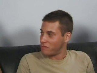 Black sofa and three hot guys fucking