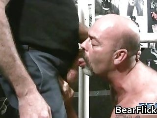 Two gay guys have great time on the swing as they suck cock