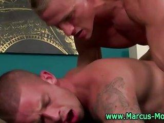 Hunky Marcus Mojo fucks stud dude hard