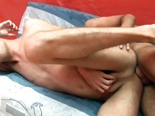 Two bareback gay dudes have a lot of fun sucking stiff cock