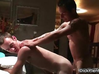 Awesome gay sex scene with two hot dudes sucking hard cock