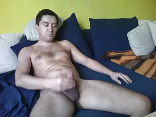 Solo dude wanking his cock