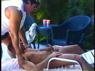 Nasty Guys Enjoy Blowjob Outdoor