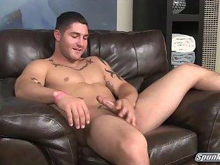 Cute Guy Beating Off & Getting Handjob