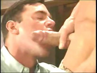 Muscle hunk dominated at work