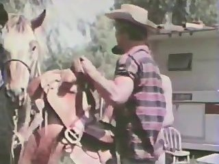 Nasty Cowboys Sucking Outdoor
