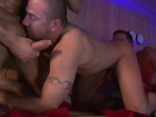 Gay sex in the sauna