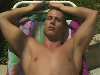 Hot poolside rest